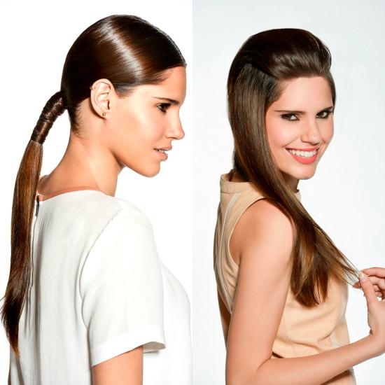 Como parte del lanzamiento de la línea, Mauro Freire, realizó un hair shooting de fotos con una modelo en Brasil y compartió tendencias para lucir el pelo alisado.