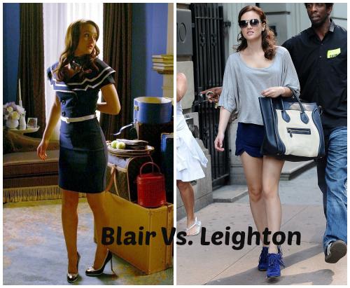 Acá enfrento a Blair Waldorf (Personaje) con Leighton Meester (actriz) sin duda alguna me quedo con el estilo de Leighton, genia de la vida.
