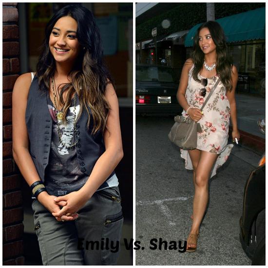 Emily, la chica gay del grupo tiene un look muy casual. El de Shay Mitchell es EL estilo que elijo.