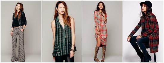 Free People es una marca con estilo bohemio que entre su propuesta ofrece túnicas y sacones.