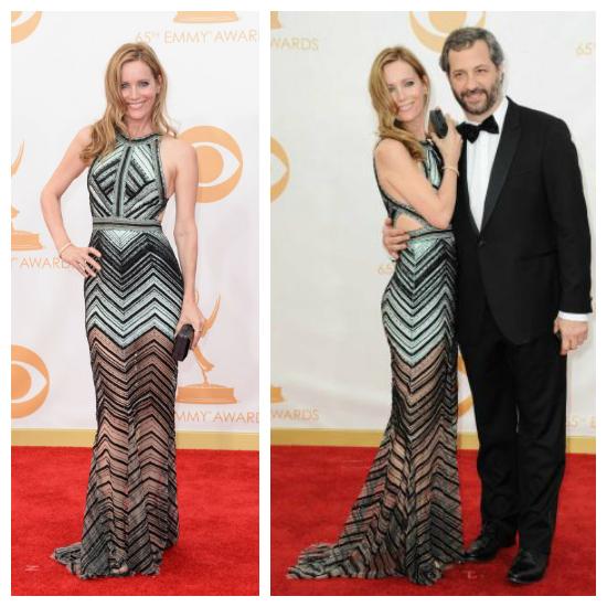 Leslie Mann fue vestida con J Mendel. Un vestido impecable y sexy. Diosa.