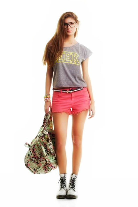 Yosy Lovers Remera Summer Geek + Short Fresa