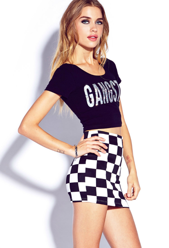 Top negro con leyenda by Forever 21