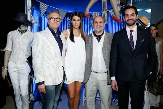 Jose Mutti, Director Creativo de Cardon; Natacha Eguia, modelo; Gabo Nazar, CEO de Cardon e Ignacio Jauregui, modelo.