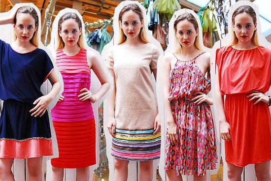 Vestidos de todas formas y colores.