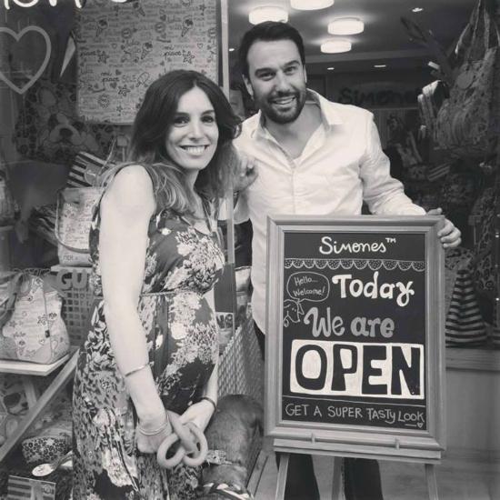 Ellos: Laura y Diego, los creadores.