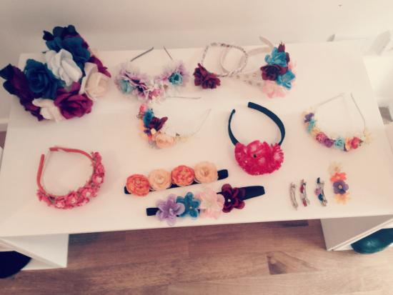 En el showroom podés encontrar además las flowercrowns de PUR LOVE