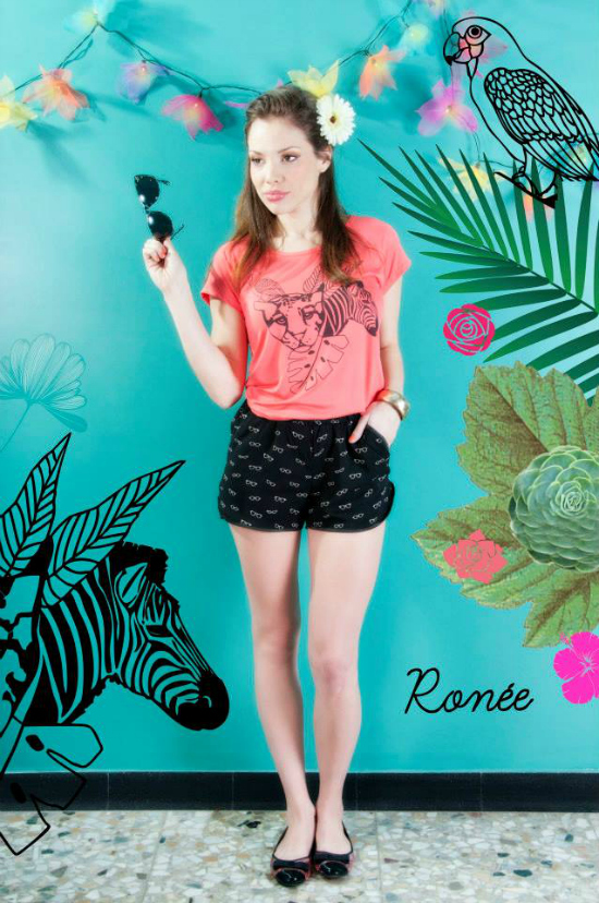 Remera des Arts estampa Safari Short Sully estampa anteojos