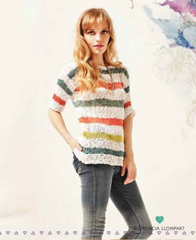 Sweater Cathy. Super simple, comodo y veraniego.