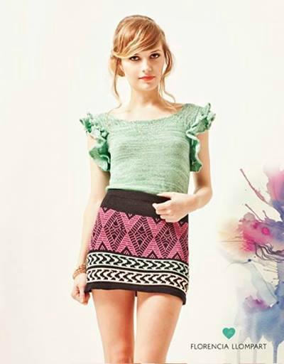 Definitivamente este outfit es un must. Me encantó: Blusa Betina y Mini Guadalupe.
