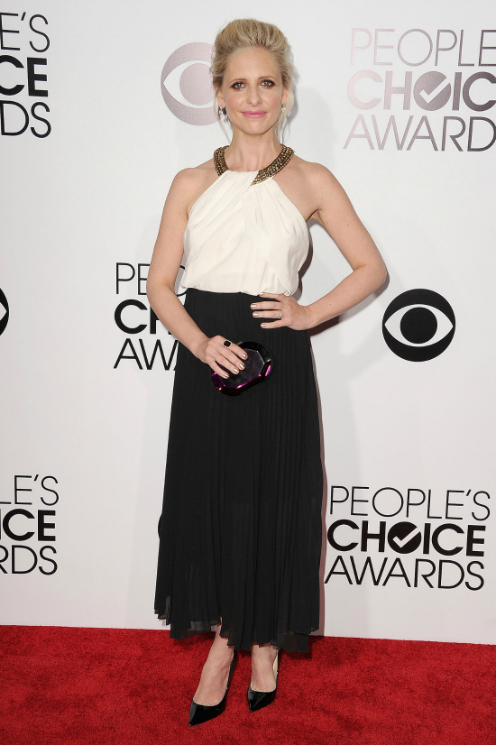 La elección de Sarah Michelle Gellar no fue mala, sin embargo, con un poco más de altura, ese vestido se hubiese lucido más.