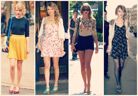 No puede elegir un look porque todos me parecen increíbles. Polleras plisadas tiro alto con sweaters, shorts y chatitas y vestidos floreados.