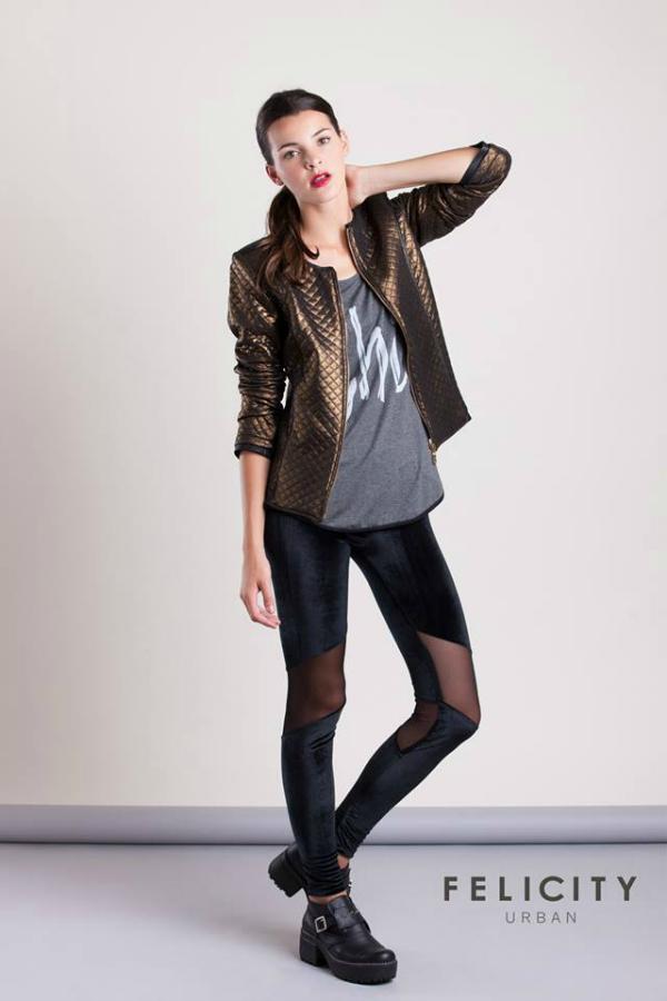 Combinadas para la noche, con estas leggings de Felicity Urban la rompes ;).