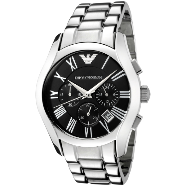Reloj cronógrafo con calendario Emprio Armani de acero inoxidable.