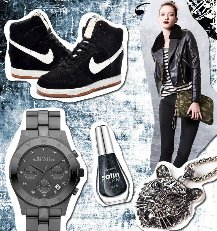 Campera: Uma Remera: Uma Jeans: Uma Zapatillas: Nike Reloj: Marc Jacobs Collar: Mes & Sage Cartera: Uma Esmalte: Sally Hansen