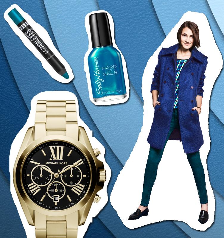 Remera, jeans y tapado: Vitamina Reloj: Michael Kors Esmalte: Sally Hansen Sombra en lapiz: Rimmel