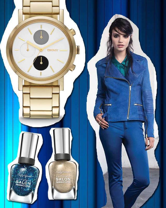 Campera y pantalón: Ayres Reloj: DKNY Esmaltes: Sally Hansen