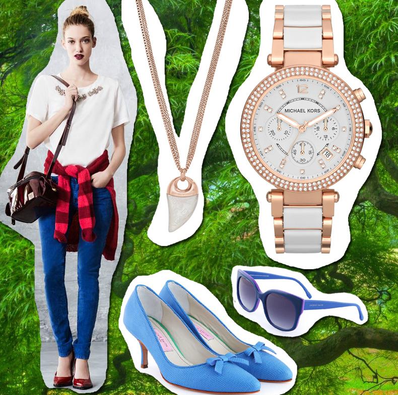 Remera: Uma Jeans: Uma Camisa: Uma Collar: Armani Reloj: Michael Kors Zapatos: Jackie Smith Anteojos: Jackie Smith