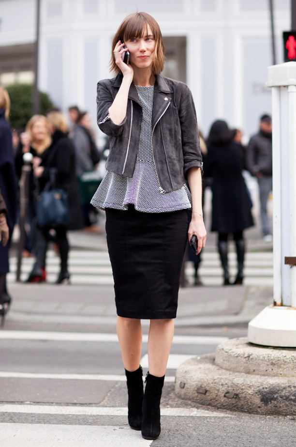 peplum-top-anya-ziourova-mr-newton-moto-leatherjacket-polka-dots-skirt-ankle-boots-street-style-fashion-week