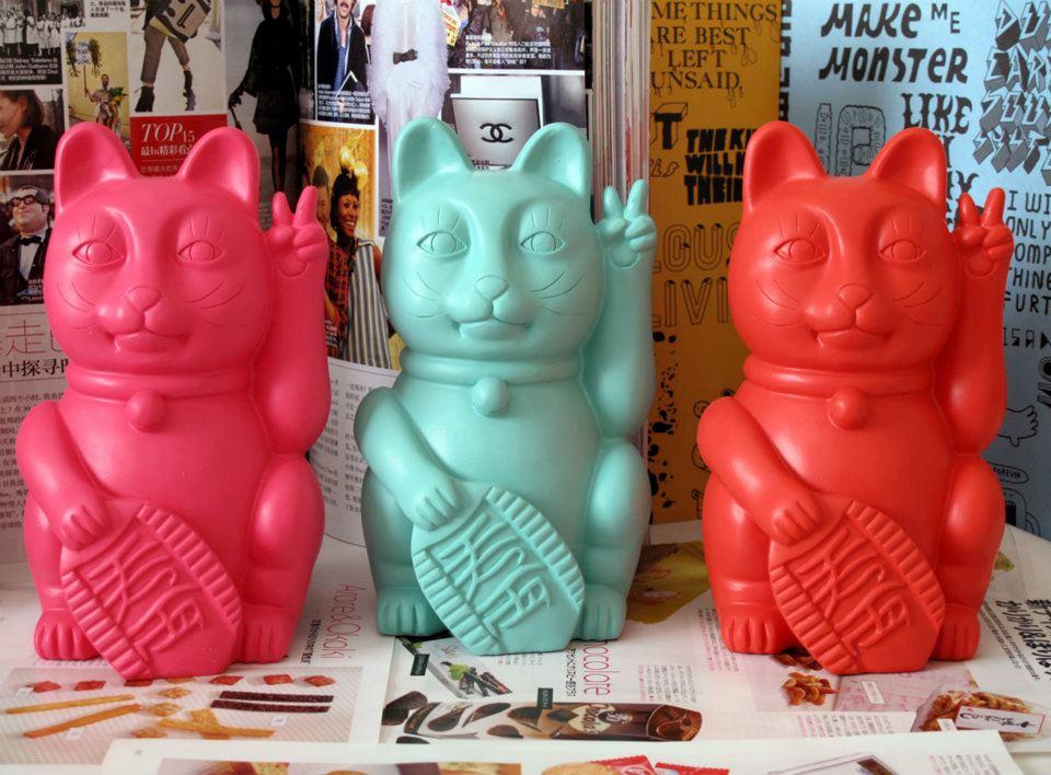 Copadísimos, los lucky cat de colores son lo más.