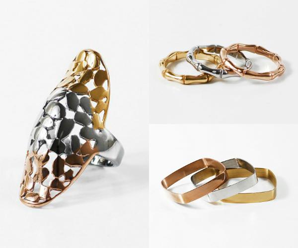 Animate al matchy, mirá que buena esta combinación de trio de anillos, pulseras y mexi ring de forever Jewells