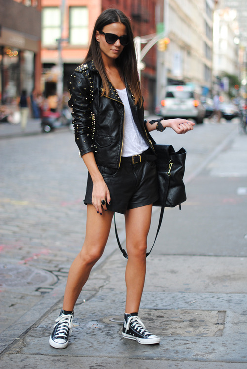 Leather-Shorts