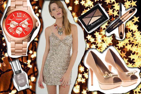 Vestido: Penny Love Reloj: Fossil Zapatos: Via Uno Esmalte: Sally Hansen 300 Greige Sombra: Rimmel Glam' Eyes Quad Máscara: Rimmel Glam' Eyes Lash Flirt