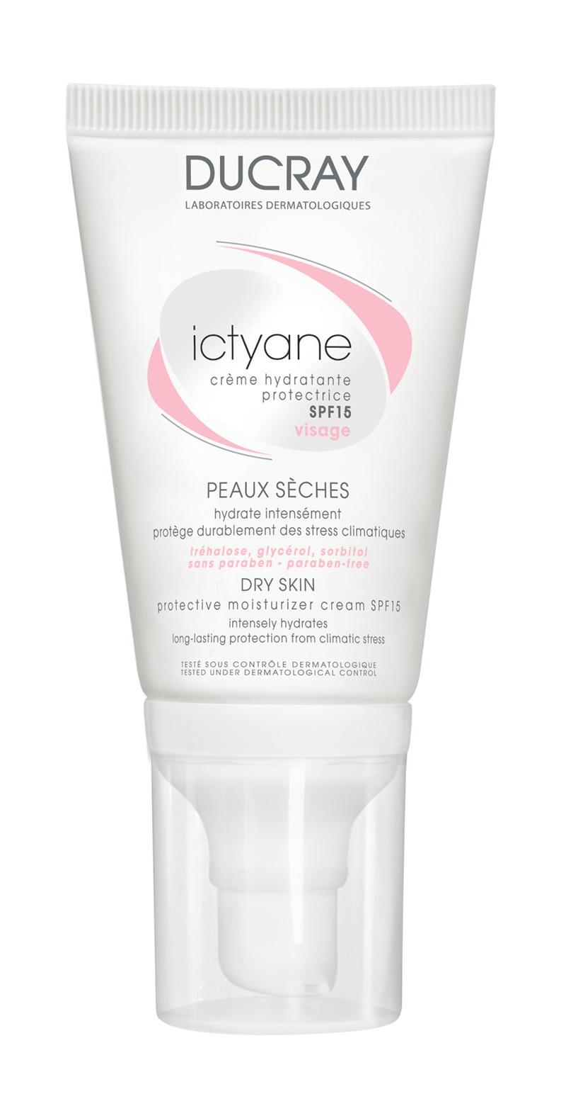 la nueva ICTYANE Crema Hidratante protectora SPF 15 para pieles secas, que hidrata intensamente y protege la piel del rostro de las agresiones climáticas de forma duradera.