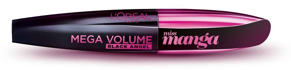 La nueva versión de la máscara Miss Manga se llama Black Angel y a diferencia del producto lanzado el año pasado, este no es waterproof. ¿Lo mejor? El cepillo consigue realizar un giro de 360 grados, logrando un volumen mejorado.