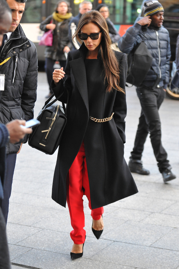 Victoria Beckham arrives at Gare du Nord from London for a one-day trip to Paris