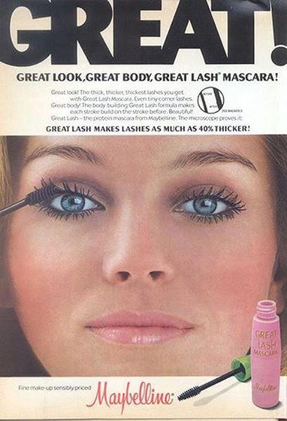 Great Lash, una de las máscaras de pestañas más vendidas de Maybelline, se lanzó en 1971.