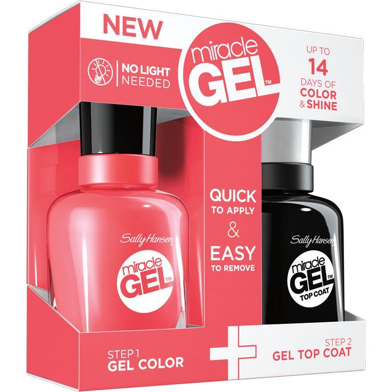 El sistema consta de dos productos: Miracle Gel Color y Miracle Gel Top Coat. Primero se aplican dos capas de Miracle Gel Color y luego una capa de Miracle Gel Top Coat. Es necesario la combinación de ambos para que el sistema funcione.
