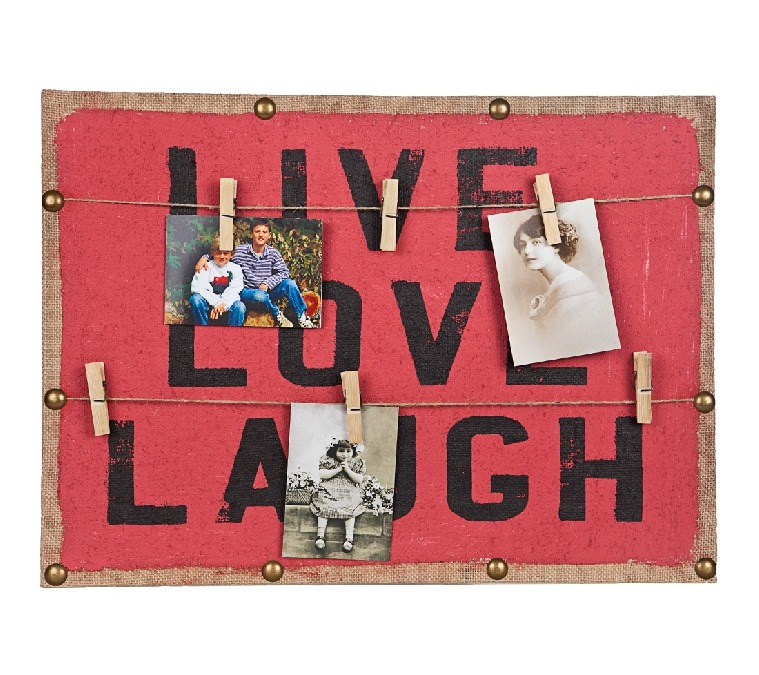 Cuadro con Broches para Fotos Rojo Tore & Co Live! - $209