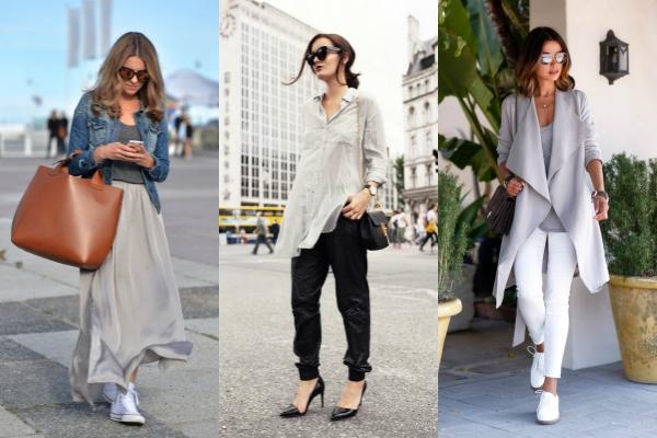 Este gris claro es perfecto para looks más formales o para las que prefieren un look sin tanto color.