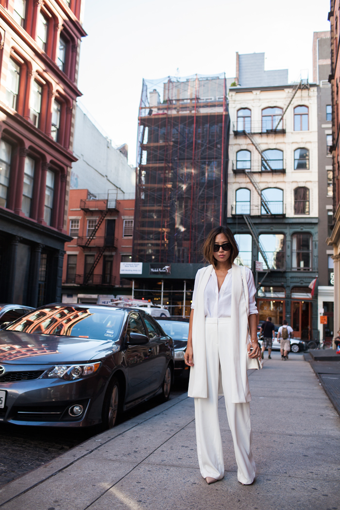 aimee_song_of_style_white_vest_white_shirt_white_trousers_phillip_lim_bag