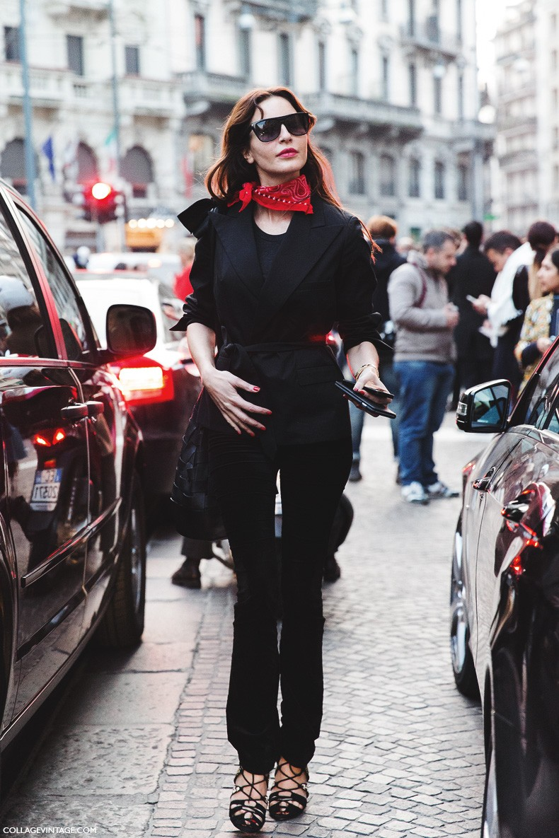 Milan_Fashion_Week-Fall_Winter_2015-Street_Style-MFW-Ece_Sukan-Bandana_Trend--790x1185