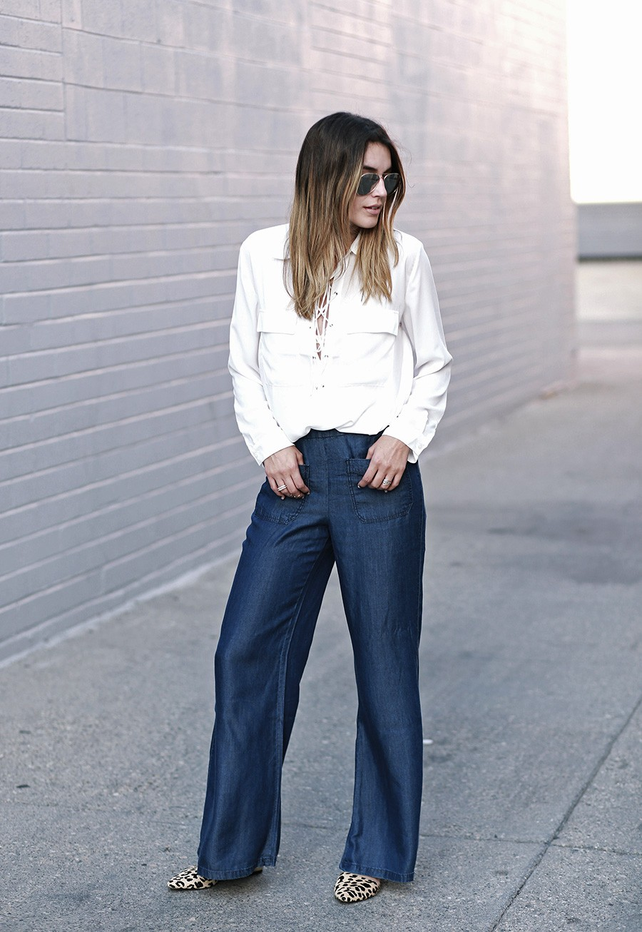 Forever-21-Lace-Up-Blouse-Wide-Leg-Jeans-1-900x1306